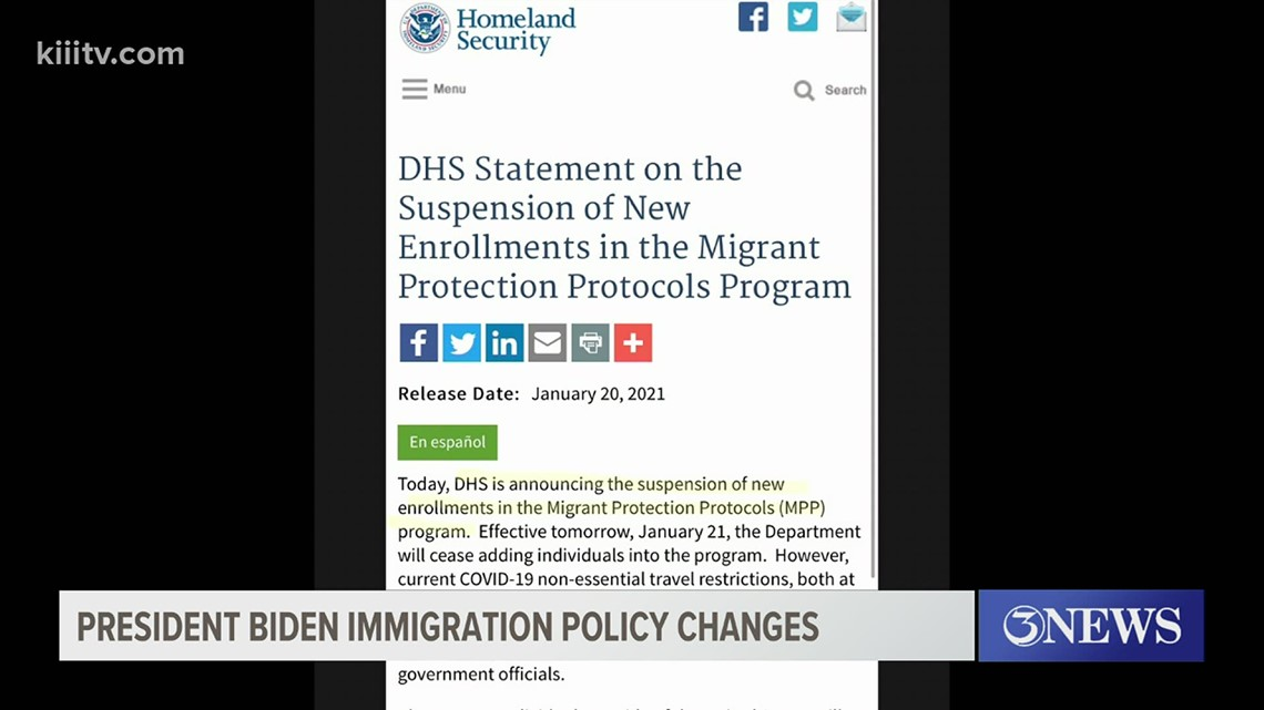 Coastal Bend political science professor explains immigration policy change by Biden administration