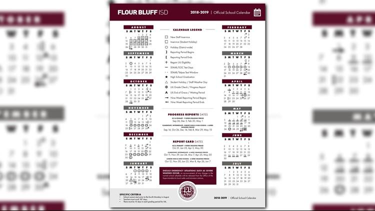 Fbisd 2019 Calendar FBISD releases newly approved school calendar | kiiitv.com