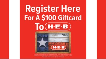 Register for your chance to win an HEB Gift Card