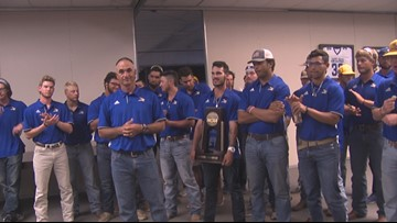 World Series bound Javelinas welcomed home