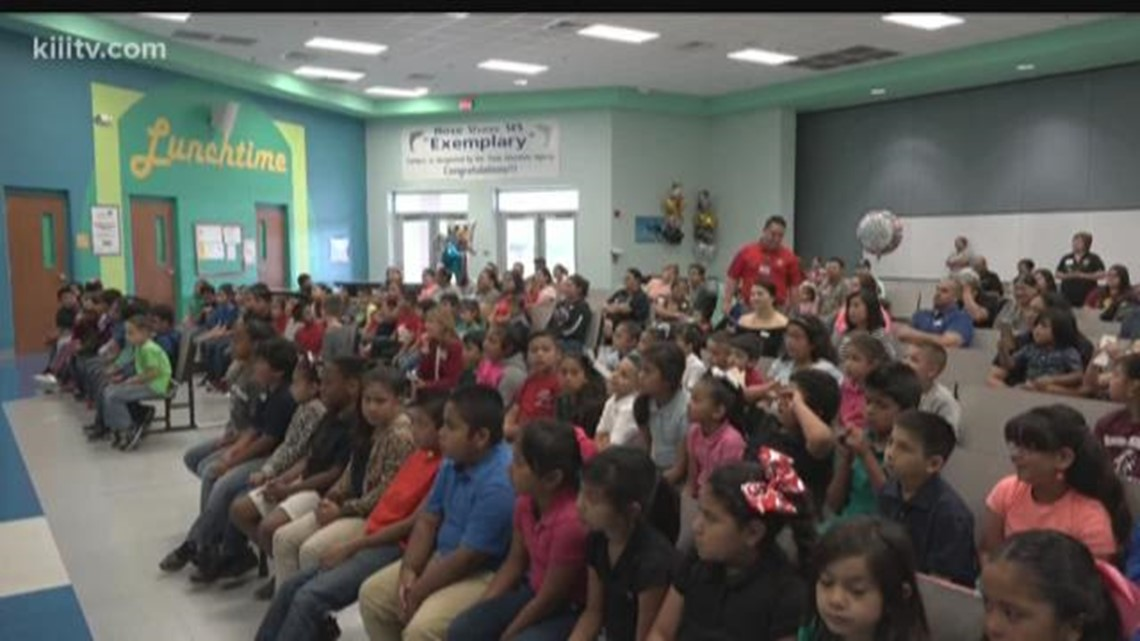 Heb Gas Prices >> HEB presents special award to Rose Shaw Elementary School ...