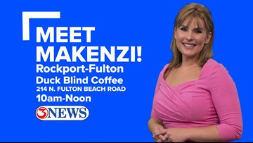 Meet Makenzi in the Rockport-Fulton area Thursday