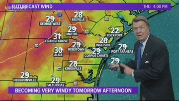 Thursday Forecast: Cold Front, Very Windy