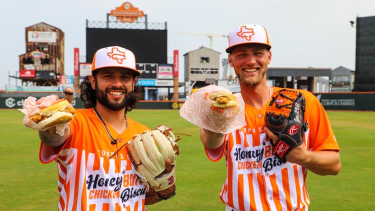 Batter up! Introducing your Corpus Christi Honey Butter Chicken Biscuits