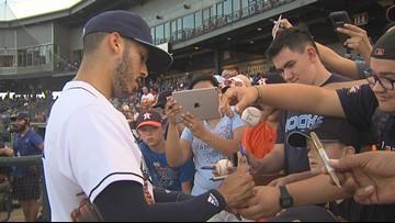 Astros' Correa Drives in Run as Hooks Win