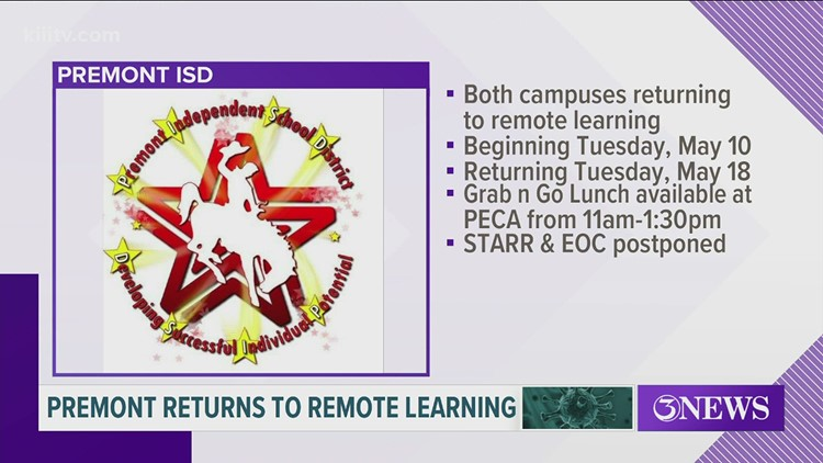 Premont ISD switching to remote learning until May 18