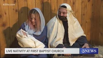 First Baptist Church hosts live Nativity scene