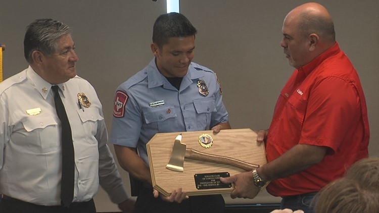 The Kiwanis Club of Corpus Christi and the Corpus Christi Fire Department joined together Thursday afternoon to name their firefighter of the year.