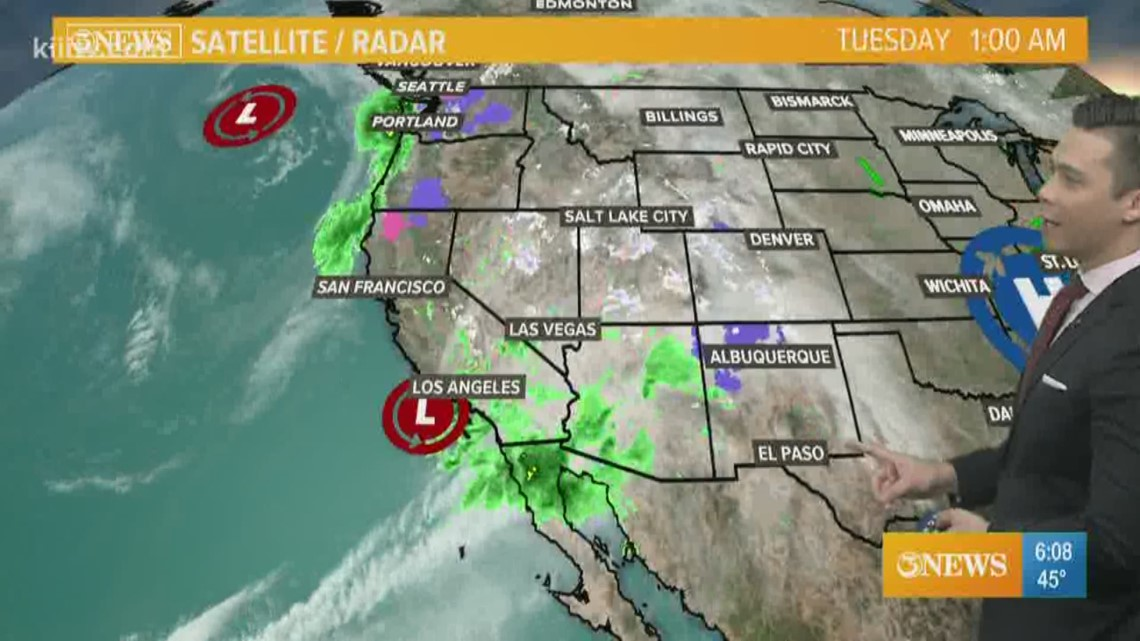 Increasing clouds; Scattered showers Wednesday