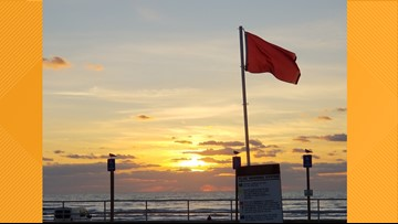 Red flags up on Padre Island beaches, high risk of dangerous rip currents