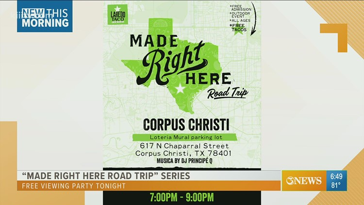 Enjoy free screening of Corpus Christi episode of 'Made Right Here Road Trip' series