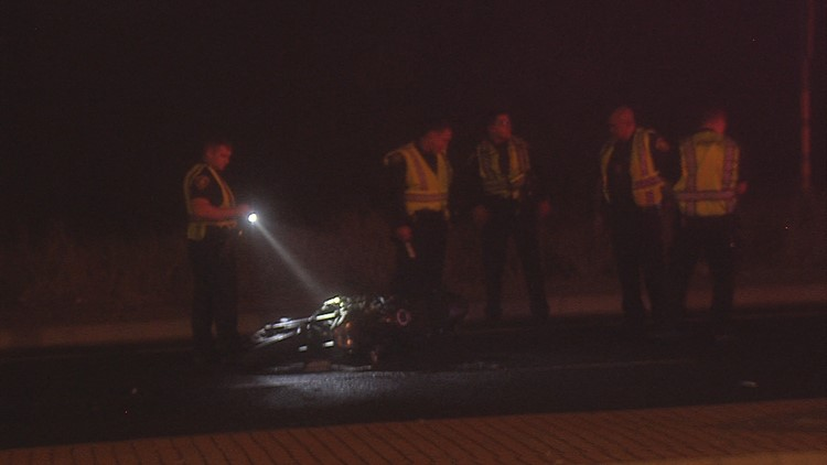 A man is in critical condition after motorcycle accident on Ennis Joslin