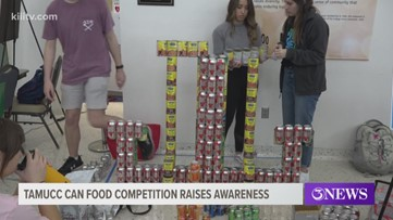 TAMUCC helps food pantry through homecoming can-building competition