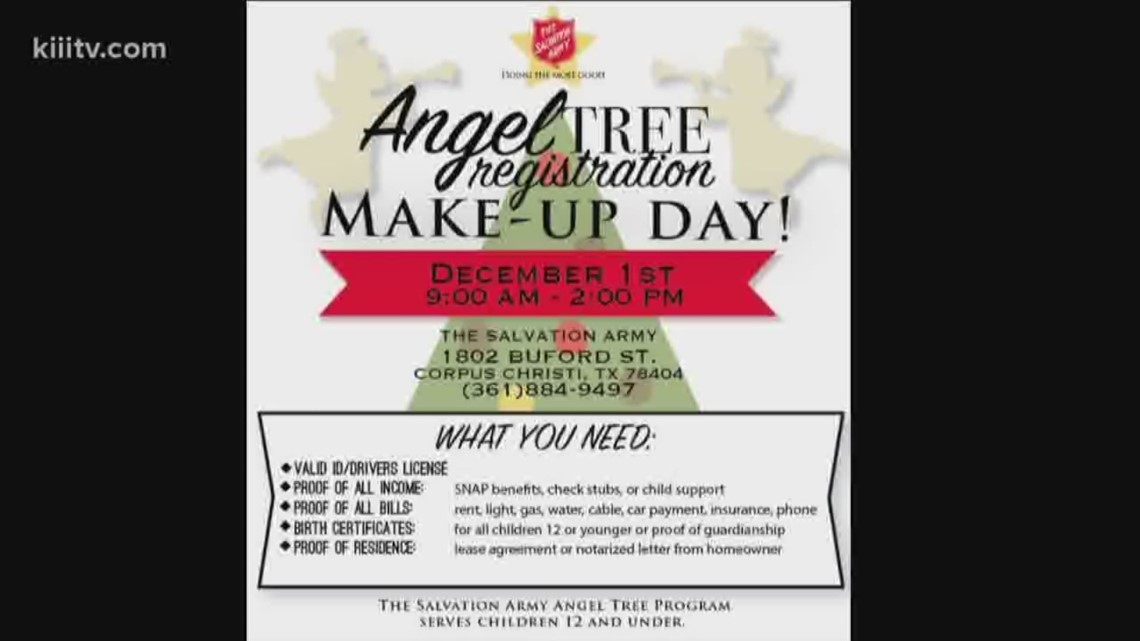 Make Up Day For Angel Tree Registration Kiiitv