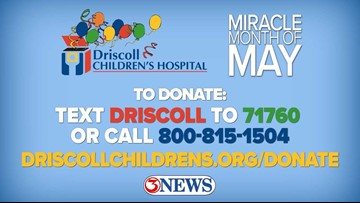 Miracle Month of May benefiting Driscoll Children's Hospital