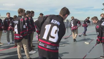 Corpus Christi IceRays hold Navy day on U.S.S. Lexington flight deck