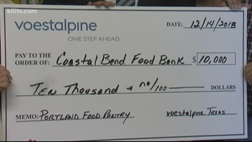 Voestalpine donates $10,000 to Coastal Bend Food Bank