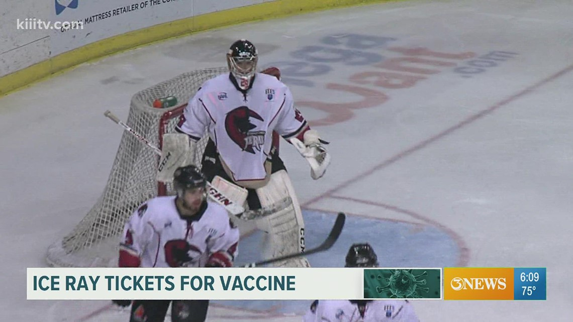 Get vaccinated, receive free tickets to Ice Rays home opener