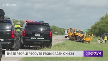 Crash on 624 sends three people to hospital
