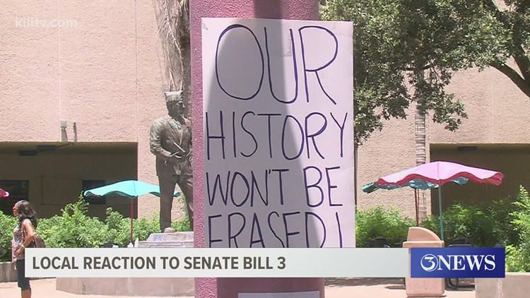 Coastal Bend organizations hold rally to voice concerns over Senate Bill 3