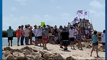 Keep Her Wild rally in Port Aransas