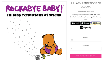 Your favorite Selena songs in lullaby form coming in new Rockabye Baby album