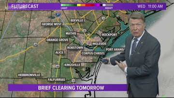 Bill Vessey's Forecast for South Texas for Wednesday, February 20, 2019