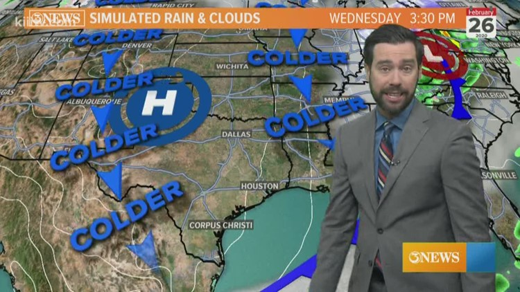 Isolated showers with a weak cold front, Monday; staying mild