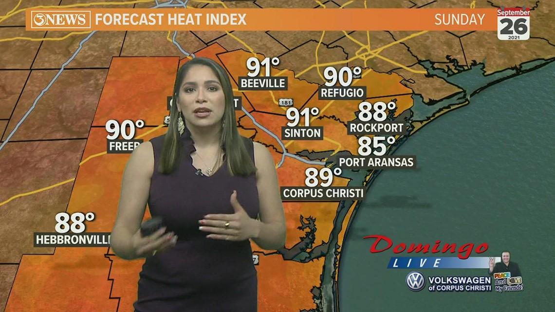 Domingo Live weather forecast, Sept. 26