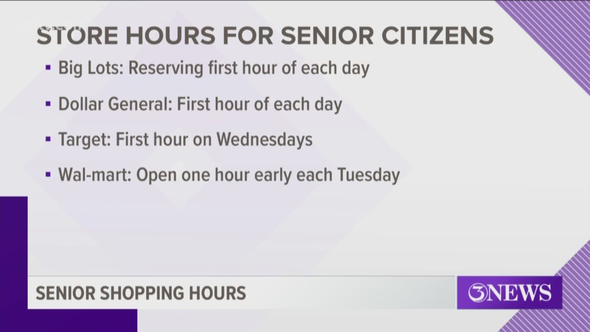 Stores Designating Time For Senior Citizens To Get Their Groceries Kiiitv Com
