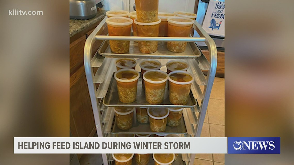 Neighbors on Padre Island help each other through the winter storm