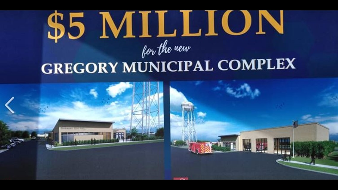 5 million dollar donation for new Gregory municipal complex