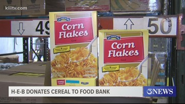 HEB donates 24-pallets of cereal to Coastal Bend Food Bank