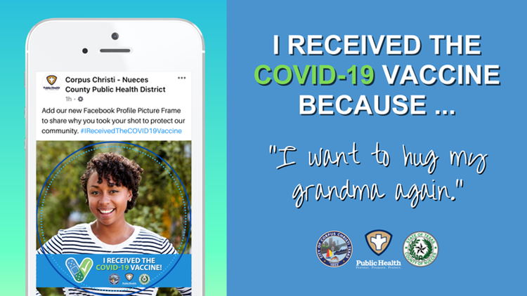 Health district creates custom Facebook profile frame to encourage residents to get vaccinated