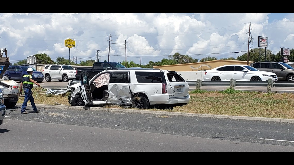 Two vehicles involved in accident between Everhart and Weber