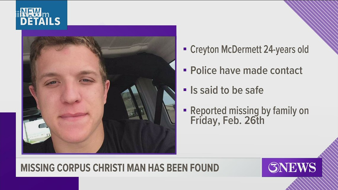Missing Corpus Christi resident last seen over the weekend found safe