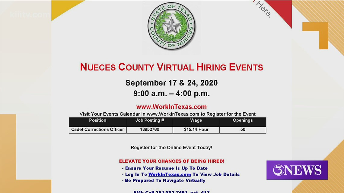 Virtual Hiring events in September hosted by Workforce Solutions of the Coastal Bend