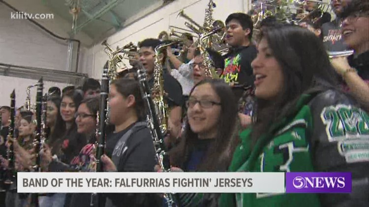 Falfurrias Jerseys win back-to-back Blitz Band of the Year