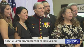 World War Two veteran honored during Marine Corps Anniversary Ball