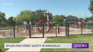 Street safety improvements near splash pad in Kingsville