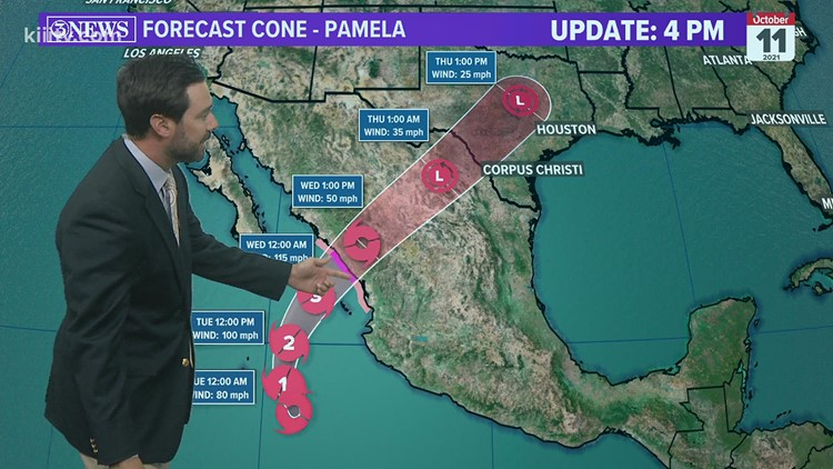 TROPICAL UPDATE: A Pacific storm set to bring rain to Texas.