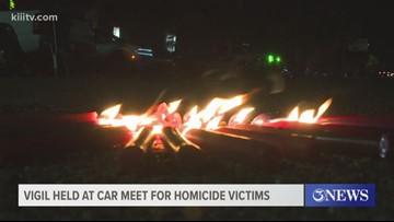 Vigil held at car meet for homicide victims