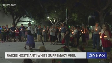 RAICES host anti-white supremacy vigil