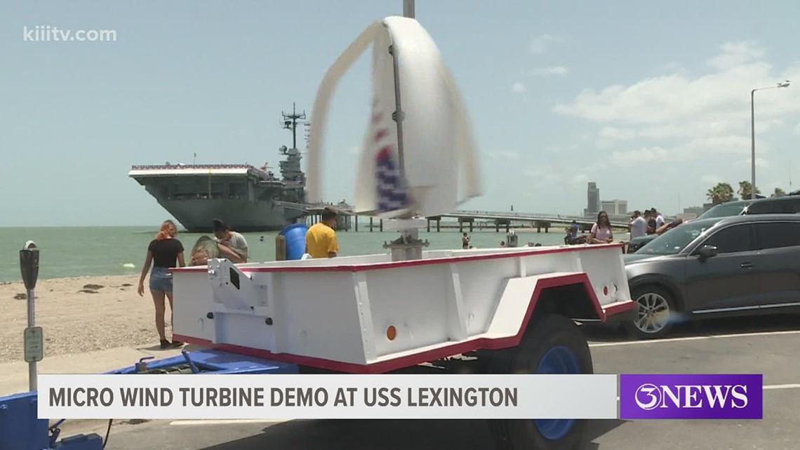 USS Lexington to display an eco-friendly wind turbine