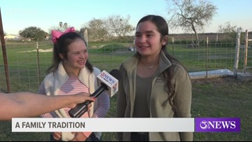 Twin sisters carry on family tradition in the Nueces County Junior Livestock Show