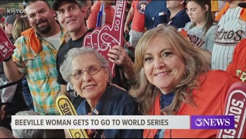 82-year-old Beeville woman among fans at Game 1 of World Series