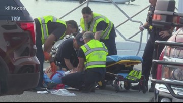 Downtown accident sends cyclist to hospital