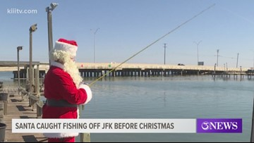 Santa Claus spotted fishing off JFK Causeway on Christmas Eve