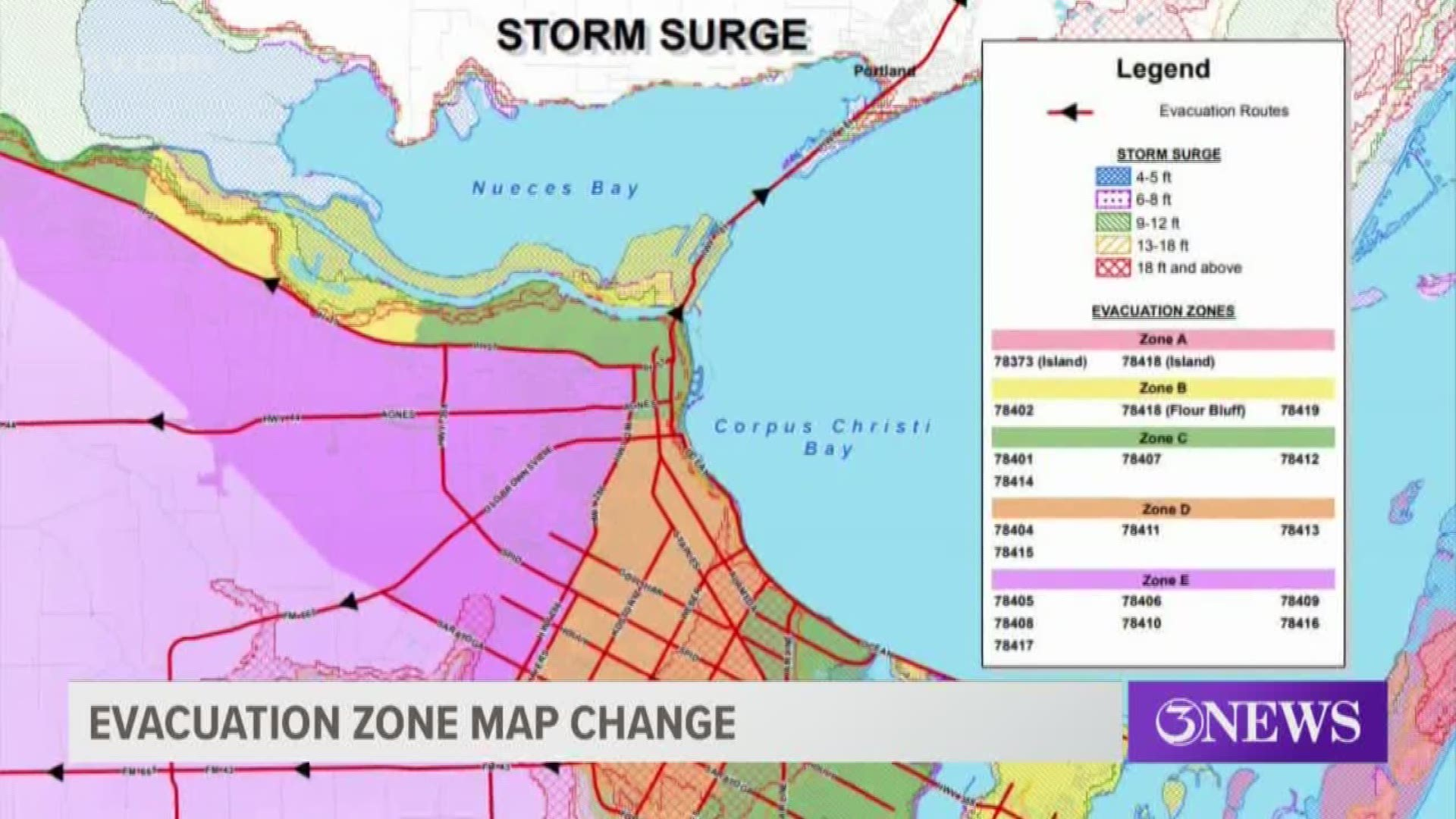 Corpus Christi Texas Map Changes to the Hurricane Evacuation Zone Maps for Corpus Christi