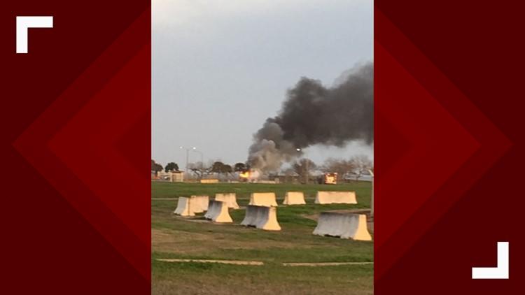 Crash reported at NAS-CC North Gate